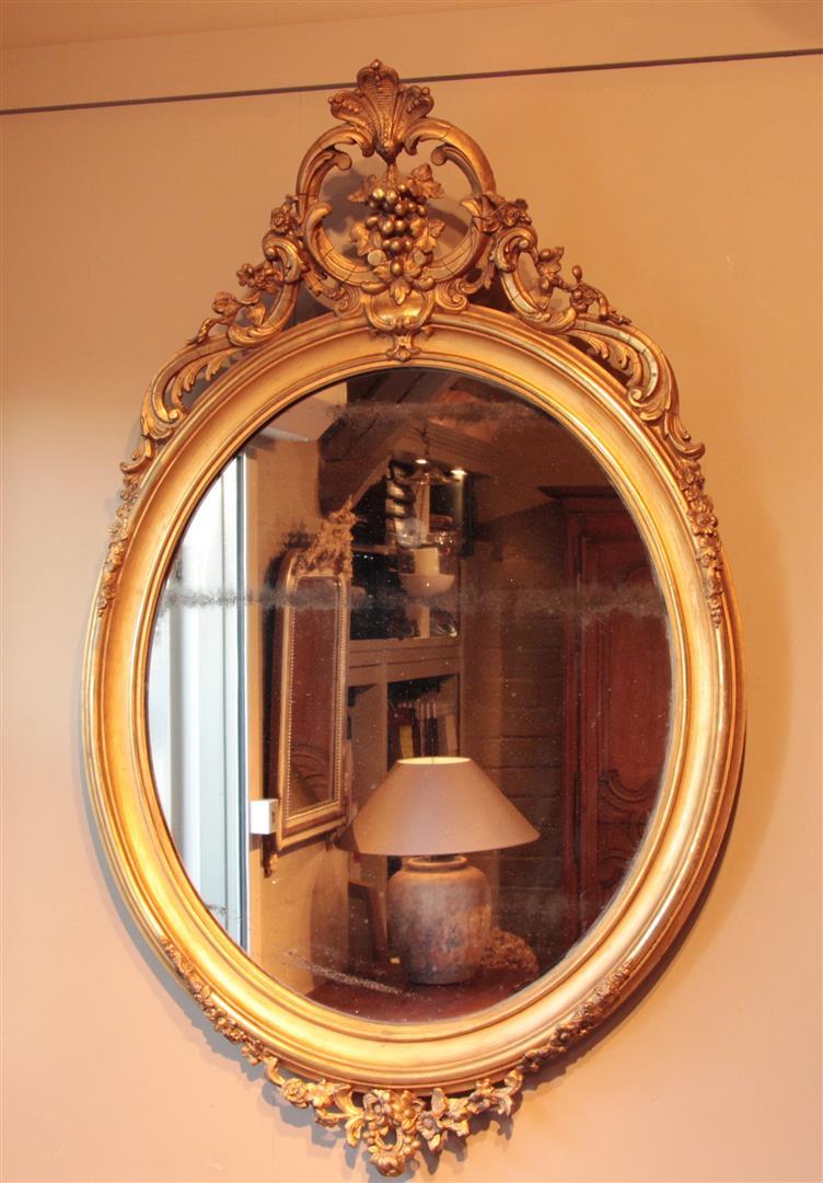 Gouden Spiegel Ovaal.Antieke Spiegels Antieke Spiegel Antieke Franse Spiegels
